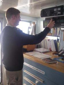 ENS Sam Greenaway, RAINIER Navigation Officer