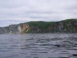 Red rock outcrop on Popofi Island