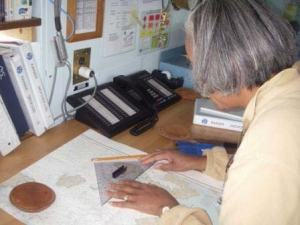 TAS Jacquelyn Hams charting a course in the Pilot House