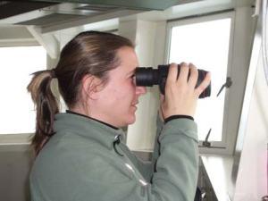US Fish and Wildlife Service seabird observer, Tamara Mills