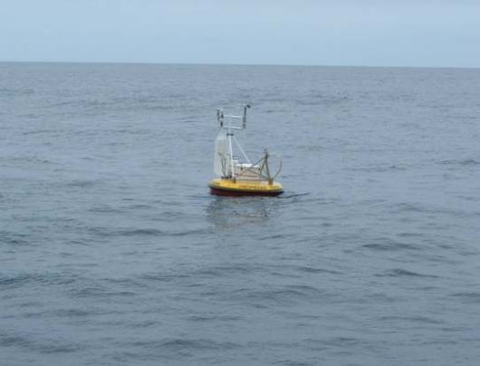 The Chilean Government's tsunami buoy on station in the South Pacific.  This is only one half of the warning equation.