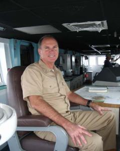 The Commanding Officer of the RONALD H.BROWN, CAPT. Gary Petrae