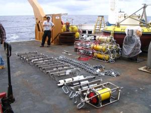 Dozens of instruments to be deployed directly beneath the buoy 800 meters worth that's over 2,400 feet of instruments!