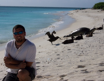 NOAA Teacher at Sea Chris Monsour takes in the sand and sun