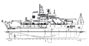 Drawing of NOAA Ship Oscar Dyson