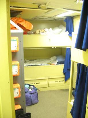 My cabin aboard the DELAWARE II