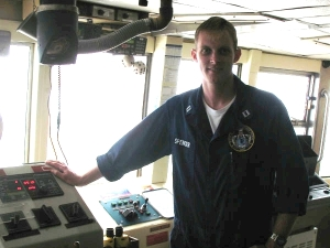LT Monty Spencer at the bridge