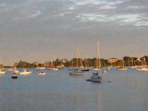 Morning light in Woods Hole Harbor