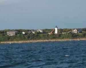 Martha's Vineyard Lighthouse being restored