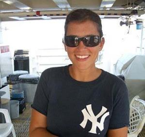 NOAA Teacher at Sea, Allison Schaffer, gets ready to set sail aboard NOAA Ship GORDON GUNTER