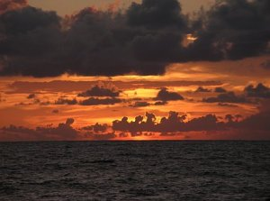 A beautiful sunset on the Gulf of Mexico