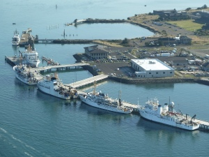 NOAA Pacific Marine Operations in Newport, OR.  (photo courtesy of NOAA)