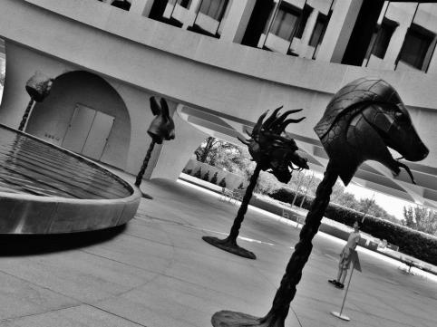 With Ai Wei Wei's zodiac sculptures in Washington, DC