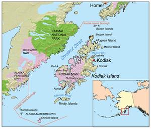 Map of Kodiak Island