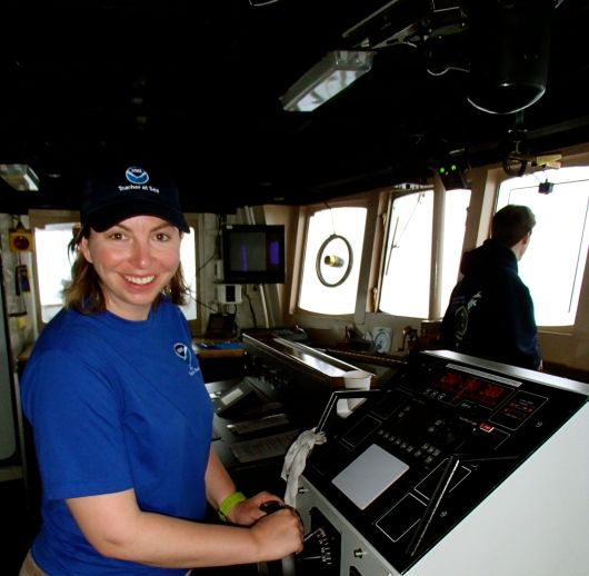 Avery at the helm