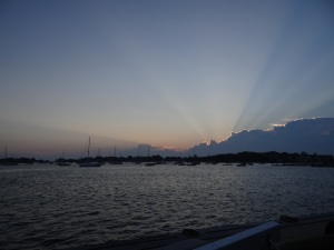 Sunset in Woods Hole, MA