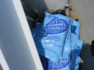 Bags of salt crystals used in reverse osmosis