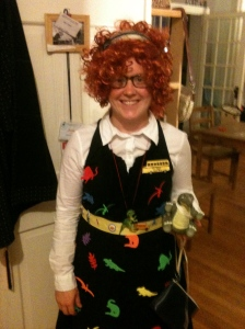 I love science and exploration so much I was Ms. Frizzle from the Magic School Bus for Halloween!