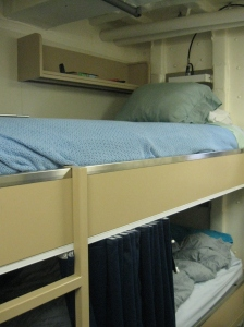 The rack where I will be staying over the next three weeks.