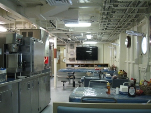 Part of the galley where the food is served and we eat three delicious meals each day!