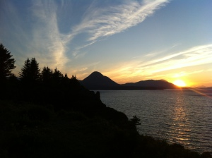 Sunset on Kodiak Island