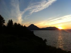 Sunset on Kodiak Island