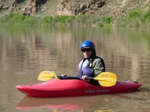 Floating in my kayak on the Green River