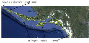 Map of the Alaskan Coastline