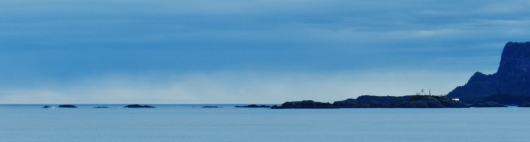 Lighthouse and last land while leaving Icy Strait for the Gulf of Alaska