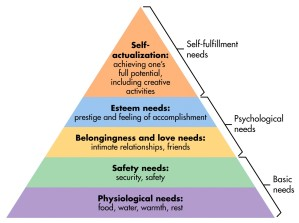 A Version of Maslow's Hierarchy of Needs