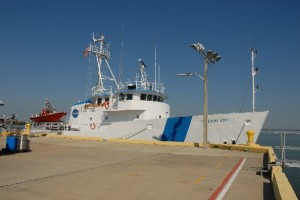 NASA ship M/V FREEDOM STAR docked at the Cape Canaveral Air Force Station