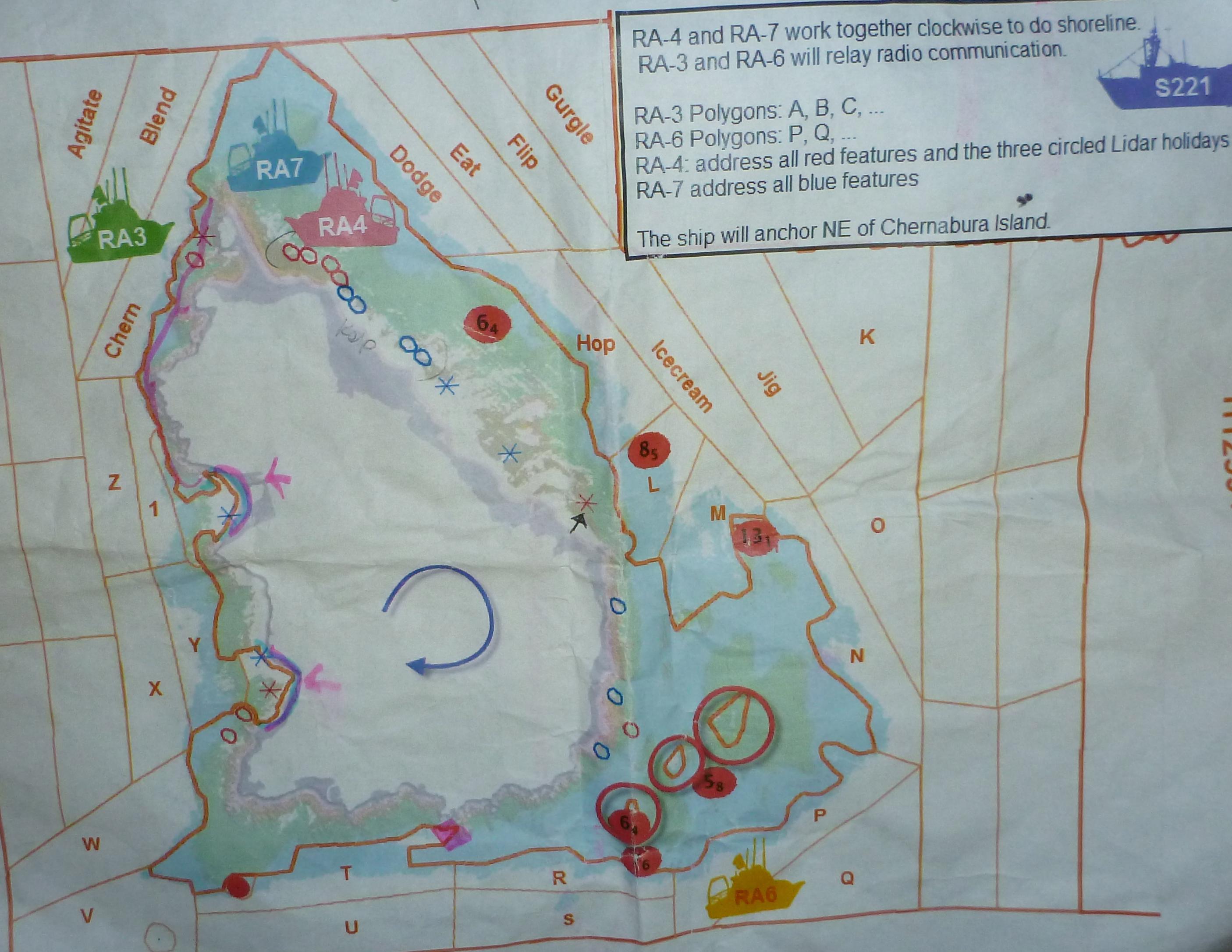 Map of island showing LIDAR data.