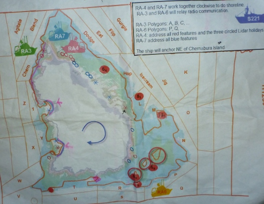 Map of island showing LIDAR data.