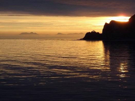 Sunrise in Bird Island Cove