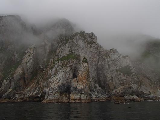 Rocky shoreline of Nagai Island