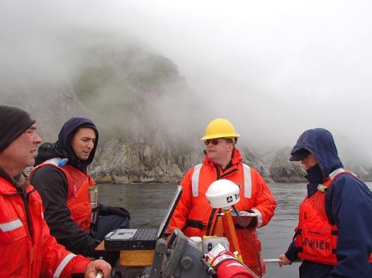 Shoreline verification crew hard at work