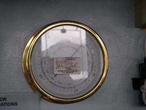 A barometer reads air pressure.