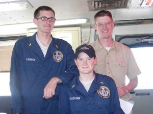 NOAA Commissioned Officers: ENS Nate Eldridge, ENS Meghan McGovern, and ENS Sam Greenaway.