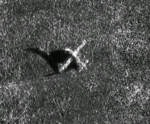 Sonar image of a sunken airplane!