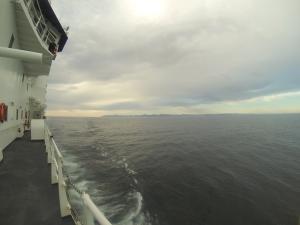 Cruising the Gulf of Alaska