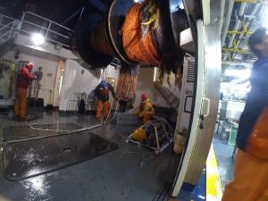 trawl net haul