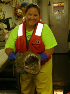 Virginia Holding the 20 Pound Monk FIsh