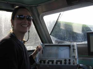 TAS Kim Wolke operating the echosounder on a hydrographic survey of the Shumagin Islands in Alaska