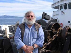 Boatswain Group Leader Steve Foye aboard NOAA ship RAINIER