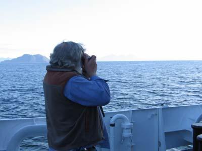 Boatswain Group Leader Steve Foye taking pictures.