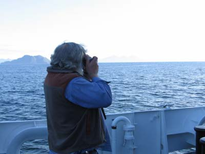 Boatswain Group Leader Steve Foye taking pictures.