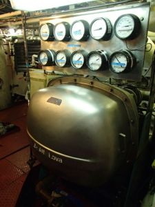 Desalinator in the Rainier engine room