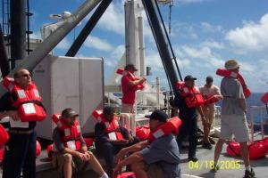 Ship safety drill
