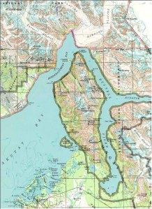 Location of Hubbard Glacier.  Map from brentonwhite.com