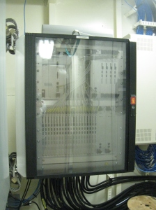 """The top-side unit of the sonar system that is used on board.  This machine acts as the """"brain"""" of the sonar system."""